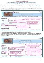 Leidinių užsakymas internetu - VPU biblioteka