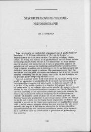 GESCHIEDFILOSOFIE- THEORIE- HISTORIOGRAFIE - Groniek