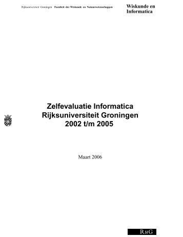 Zelfevaluatie Informatica Rijksuniversiteit Groningen 2002 t/m 2005