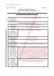 Instrukcja wypełniania wniosku - Biblioteka Narodowa