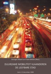 boek - Afdeling Mobiliteit en Ruimtelijke Planning - Universiteit Gent