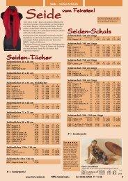 Seiden-Schals Seiden-Tücher - MERU-Seide-Creativ