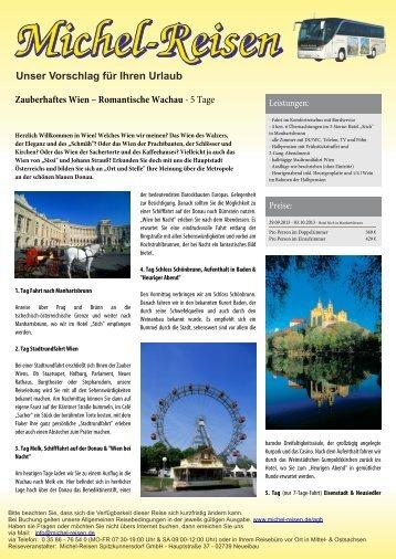 Zauberhaftes Wien – Romantische Wachau - Michel-Reisen