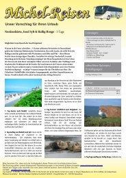 Nordseeküste, Insel Sylt & Hallig Hooge - Michel-Reisen