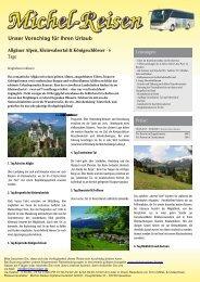 Allgäuer Alpen, Kleinwalsertal & Königsschlösser - Michel-Reisen