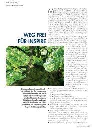 WEG FREI FÜR INSPIRE - MOSS Computer Grafik Systeme GmbH