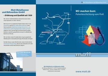Pulverbeschichtung - MOTT Metallwaren und Bühnenbau GmbH