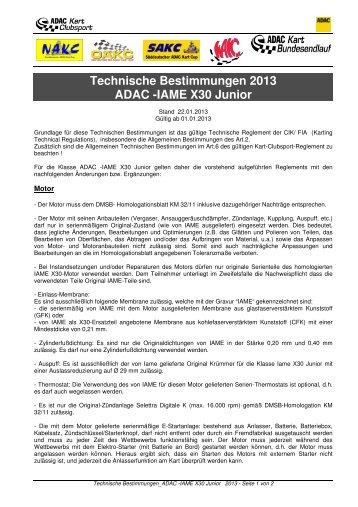 07_TECHN. BESTIMMUNGEN CS_ADAC -IAME X30 Junior ...