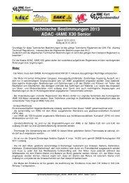 IAME X30 Senioren 2013 - ADAC Mittelrhein eV