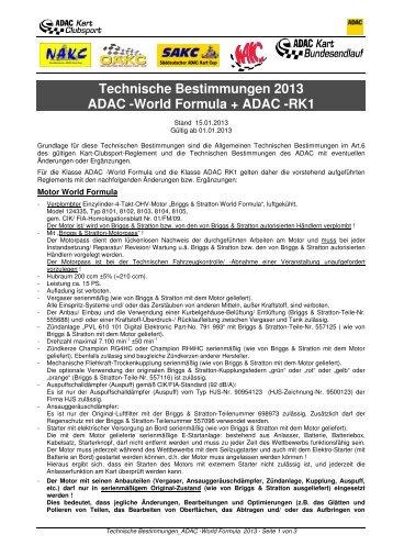 04_TECHN. BESTIMMUNGEN CS_ADAC -World Formula RK1 ...