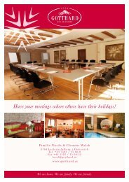 Have your meetings where others have their holidays!