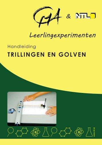 Leerlingexperimenten bij SEK Trillingen en Golven (P9160-4S) - CMA