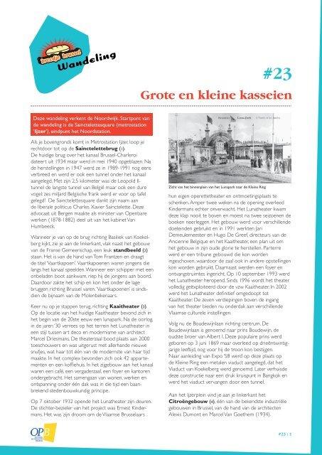 Grote en kleine kasseien - UiT in Brussel
