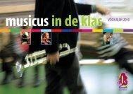 Brochure van Musicus in de Klas - Stichting KunstAanBod