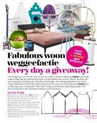 Fabulous woon weggeefactie Every day a giveaway! - Life is Fabulous