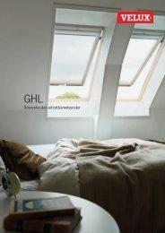 Productinformatie blad uitzettuimelvenster type GHL - Velux