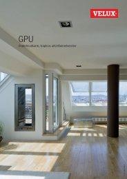 Productinformatie blad uitzettuimelvenster GPU - Velux