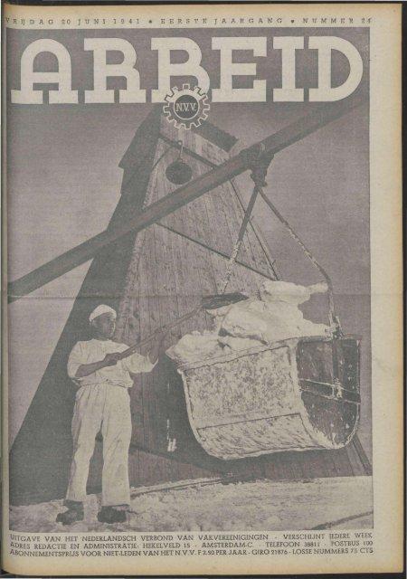 Arbeid (1941) nr. 24 - Vakbeweging in de oorlog