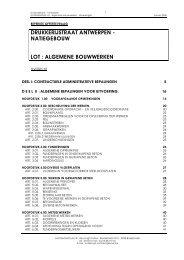 Lastenboek - RENOVATIE - NATIEGEBOUW alg ... - B-SI bvba