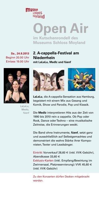 Flyer Open Air 2013 (PDF) - Museum Schloss Moyland