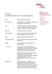 Zeittafel (PDF) - Museum Schloss Moyland