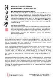 Kanonische Chinesische Medizin Arnaud Versluys - PhD ... - ABZ Mitte