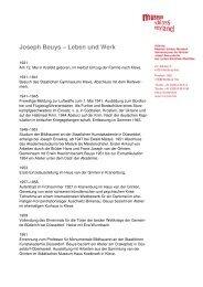 Biografie Joseph Beuys (PDF) - Museum Schloss Moyland