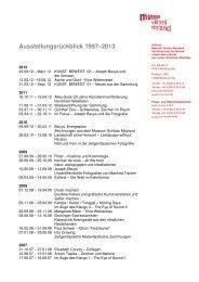 Ausstellungen 1997–2012 (PDF) - Museum Schloss Moyland