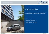 E-mobility meets Contracting - m+p gruppe