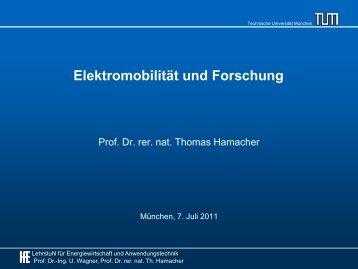 Elektromobilität und Forschung - m+p gruppe