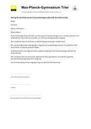 Antragsformular (dreiseitig) - Max-Planck-Gymnasium