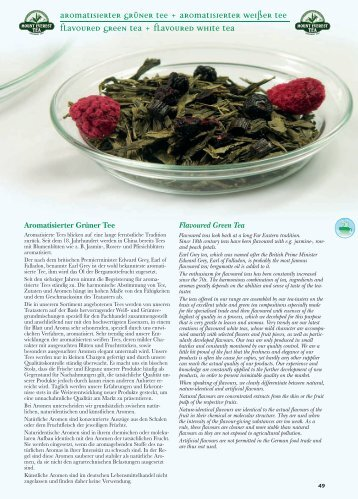 Aromatisierter grüner tee + Aromatisierter weißer tee Flavoured ...