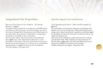 Aufgussbeutel für Teegenießer Infusion bags for tea connaisseurs