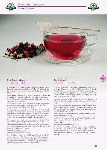 Früchtemischungen Fruit blends - Mount Everest Tea Company GmbH