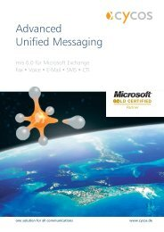 Advanced Unified Messaging - MR Compact GmbH