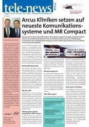 Arcus Kliniken setzen auf neueste Komunikations - systeme und MR ...