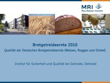 folgenden Tabellen - Max Rubner-Institut