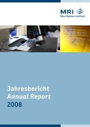 Jahresbericht Annual Report 2008 - Max Rubner-Institut - Bund.de