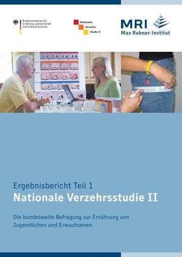 öffentlich zugänglichen Bericht - Max Rubner-Institut