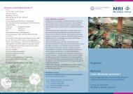 Workshop Leben Biokäufer gesünder? - Max Rubner-Institut - Bund.de