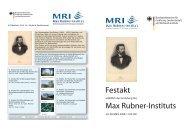 Max Rubner-Instituts Festakt - Max Rubner-Institut - Bund.de