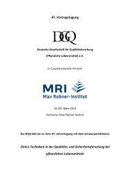 Tagungsprogramm-DGQ-2012 - Max Rubner-Institut - Bund.de