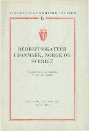 Bedriftsskatter Danmark, Norge og Sverige - SSB