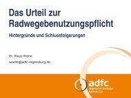 Das Urteil zur Radwegebenutzungspflicht - ADFC Regensburg
