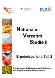 Nationale Verzehrsstudie II - BMELV