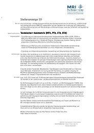 Stellenanzeige 59 LBV KA - Max Rubner-Institut - Bund.de