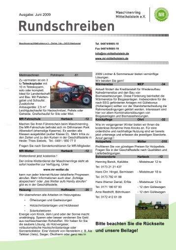 anzeigen - Maschinenring Mittelholstein eV