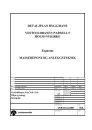DETALJPLAN BYGG/BANE VESTFOLDBANEN ... - Jernbaneverket