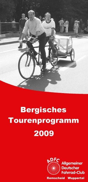 Bergisches Tourenprogramm 2009 - beim ADFC
