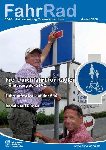 Frei Durchfahrt für Radler – Änderung der STVO - beim ADFC